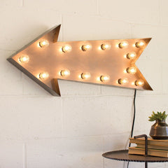 Marquee Symbol Lights - Arrow Marquee Sign With Lights