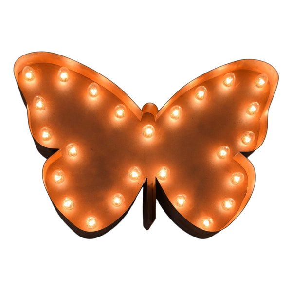 Marquee Symbol Lights - Butterfly Vintage Marquee Sign With Lights (Rustic)