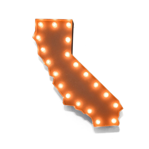 Marquee Symbol Lights - California Vintage Marquee Lights Sign (Rustic)