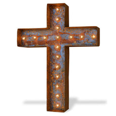 Christian Cross Symbol Marquee Light Sign