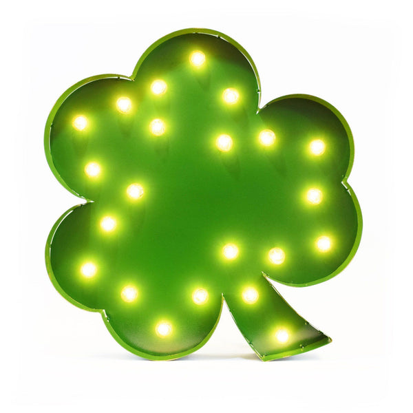 Marquee Symbol Lights - Clover Vintage Marquee Lights Sign (Green Finish)