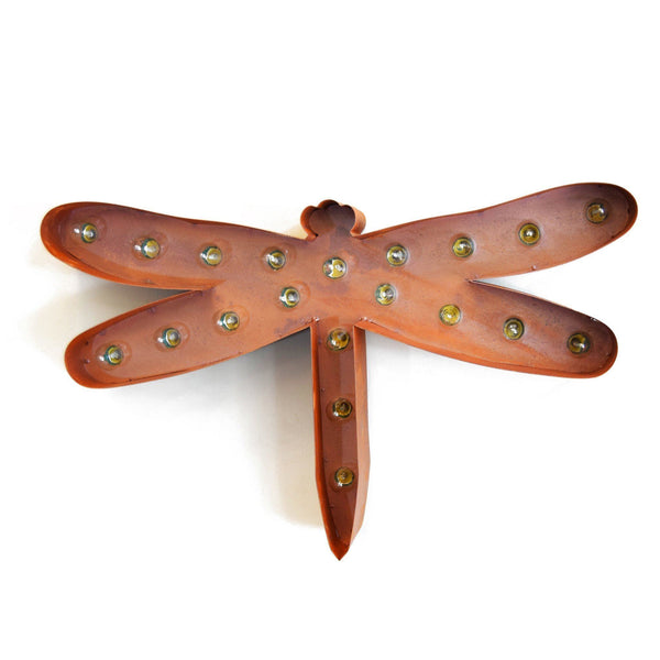 Marquee Symbol Lights - Dragonfly Vintage Marquee Lights Sign (Rustic)