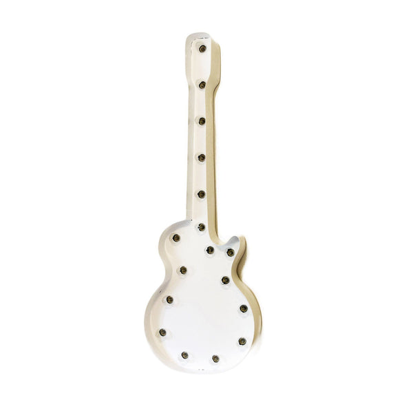 Marquee Symbol Lights - Guitar Vintage Marquee Lights Sign (White Finish)