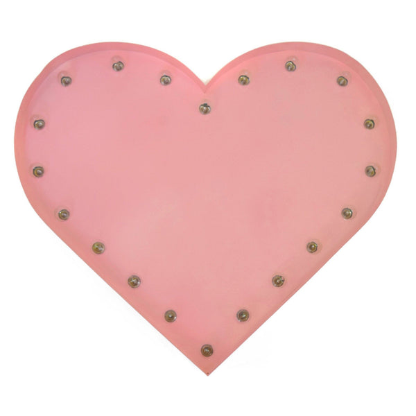Marquee Symbol Lights - Heart Vintage Marquee Lights Sign (Pink Finish)