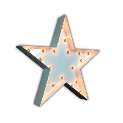 12 Small Star Vintage Marquee Sign With Lights White Finish Buy