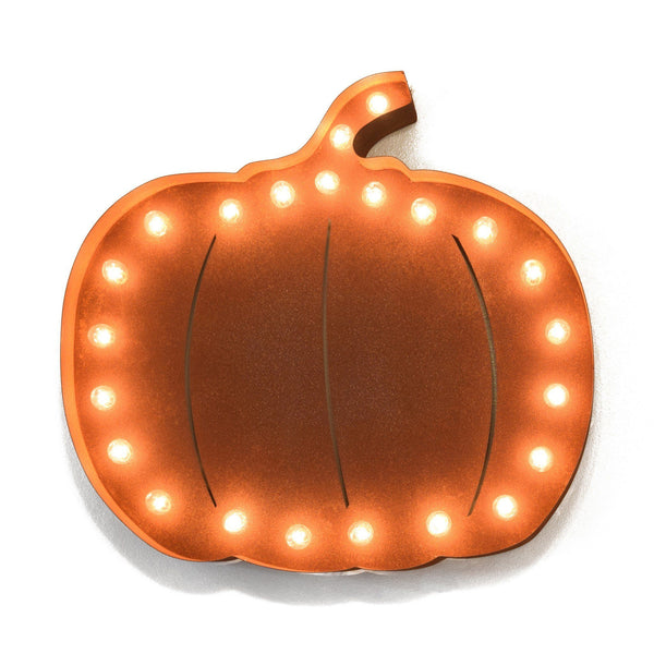 Marquee Symbol Lights - Pumpkin Vintage Marquee Lights Sign (Rustic)