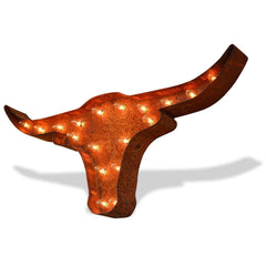 Marquee Symbol Lights - Texas Longhorns Vintage Marquee Lights Sign (Rustic)