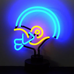 Neon Sculptures - Blue/Yellow Football Helmet Neon Sculpture