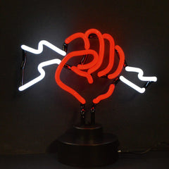 Neon Sculptures - Fist With Lightning Neon Sculpture