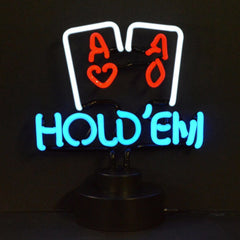 Neon Sculptures - Hold Em Poker Neon Sculpture