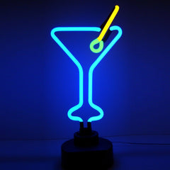 Neon Sculptures - Martini Glass Neon Sculpture