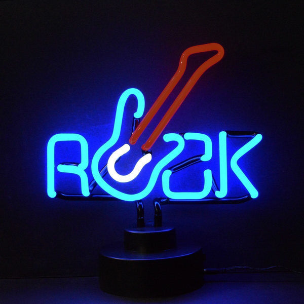 Neon Sculptures - Rock With Guitar Neon Sculpture