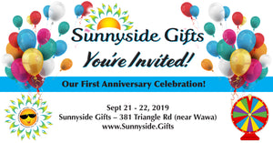 Sunnyside Gifts Anniversary Celebration! This week! Don't miss the fun online and in store!