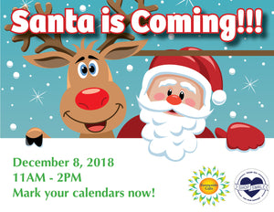 Santa Claus is coming to Sunnyside Gifts!