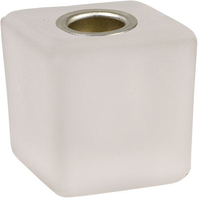 Frosted Glass Mini Candle Holder Cube