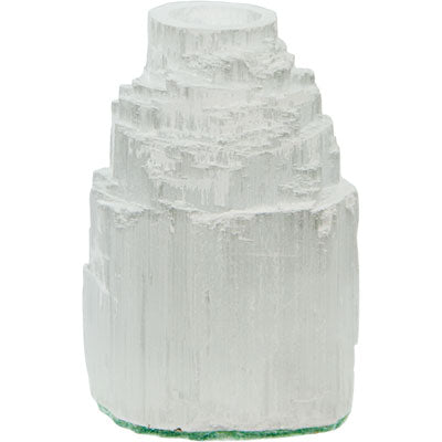 Iceberg White Selenite Mini Candle Holder