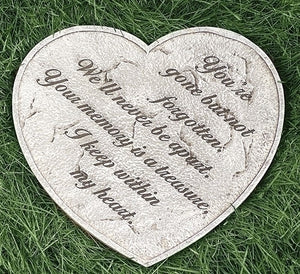 Always in My Heart Memorial Garden Stone