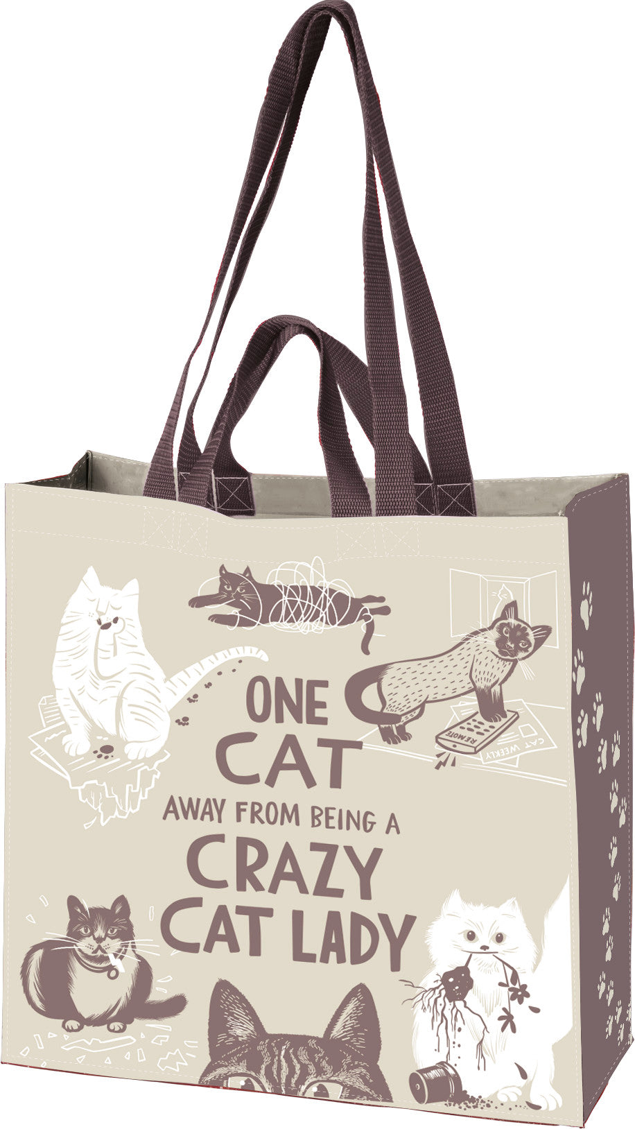 One Cat Away From Being A Crazy Cat Lady Market Tote