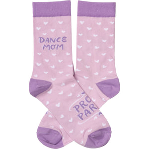 Dance Mom Proud Parent Socks