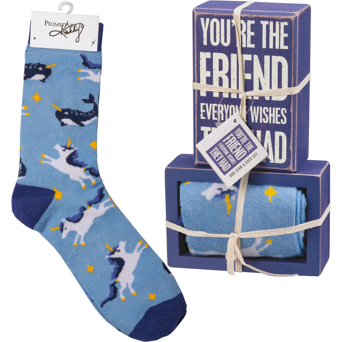 You're The Friend Socks & Box Sign Gift Set