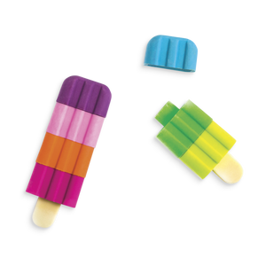 Icy Pops Fruit-Scented Popsicle Erasers Set
