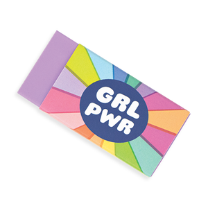 GRL PWR Girl Power Pencil Erasers Set