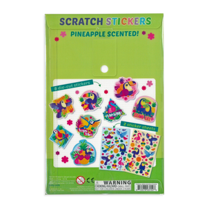 Tropical Birds Pineapple Scented Scratch 'n Sniff Stickers