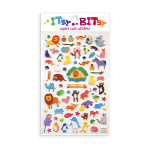Itsy Bitsy Stickers - Happy Zoo Animal Pals