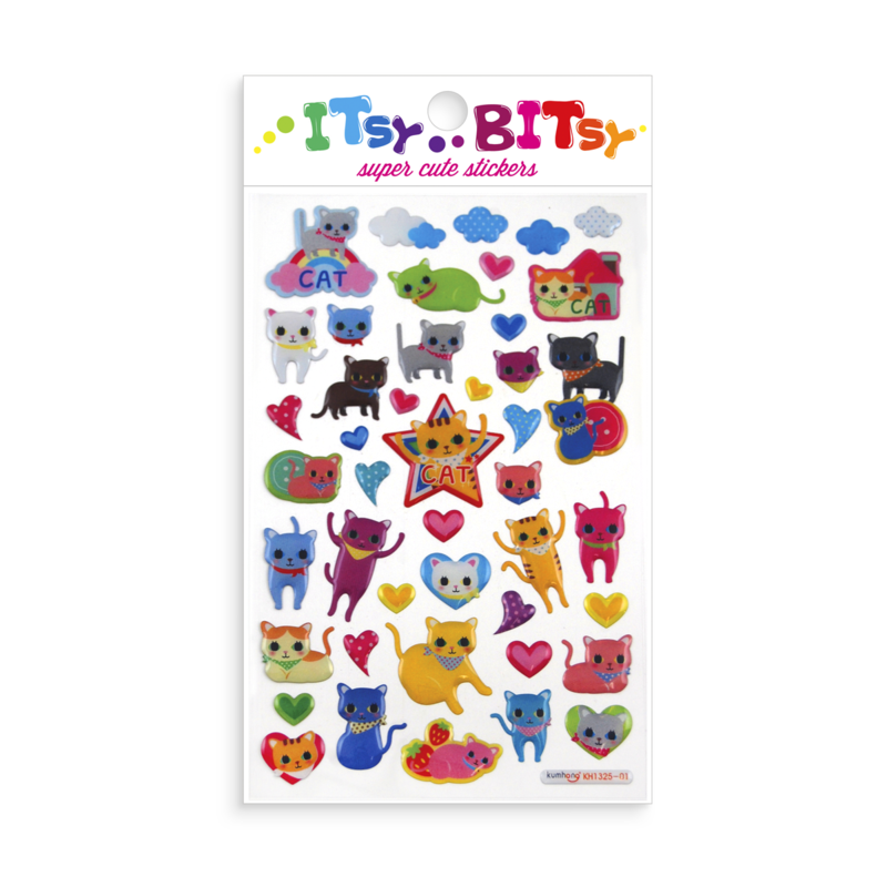 Itsy Bitsy Stickers - Kitties (Cats & Kittens)