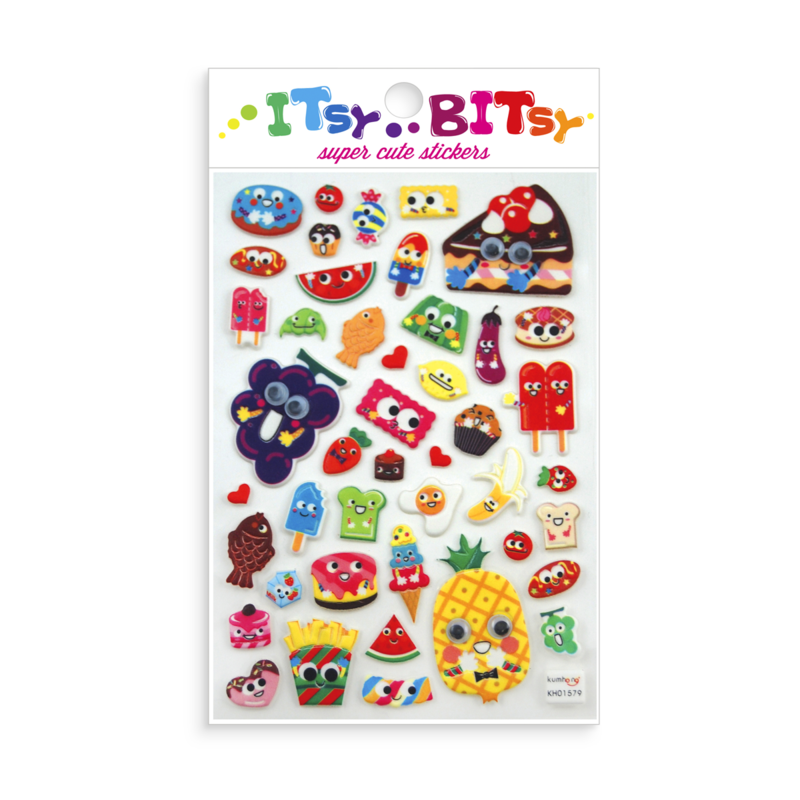 Itsy Bitsy Stickers - Googly Eyed Foods