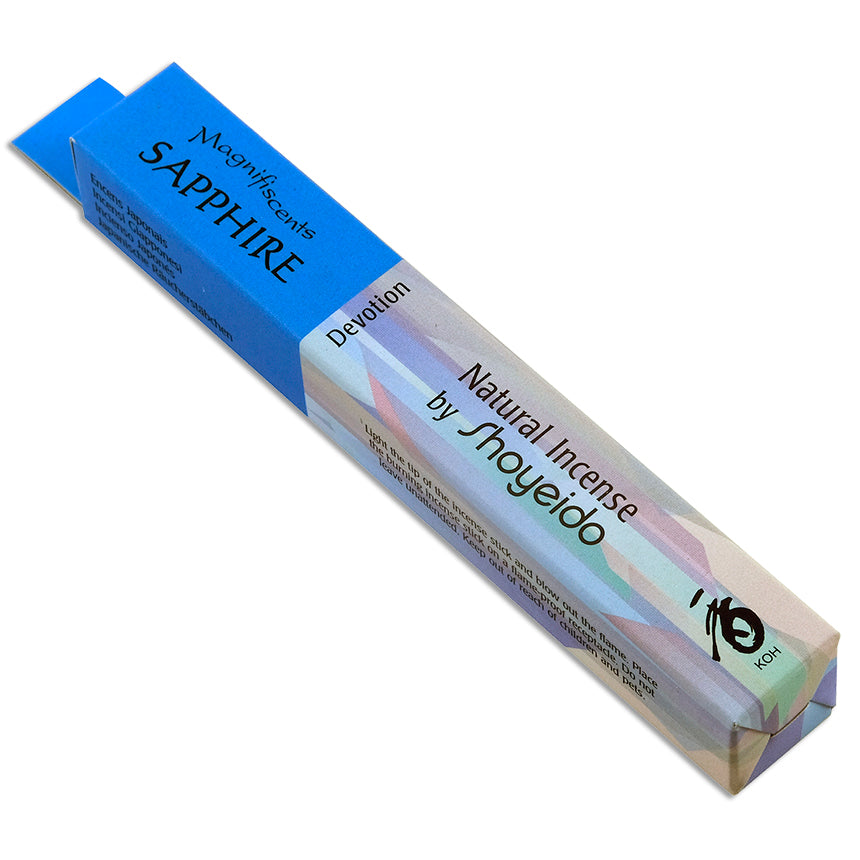 Sapphire ~ The Jewel Series Incense Sticks by Shoyeido (Devotion) ~ Magnifiscents