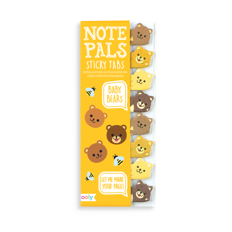 Note Pals Sticky Tabs - Baby Bears
