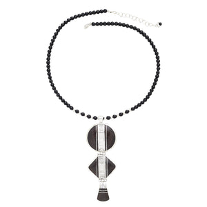 Desert Beauty Ebony & Onyx Silver Necklace Handcrafted in Niger