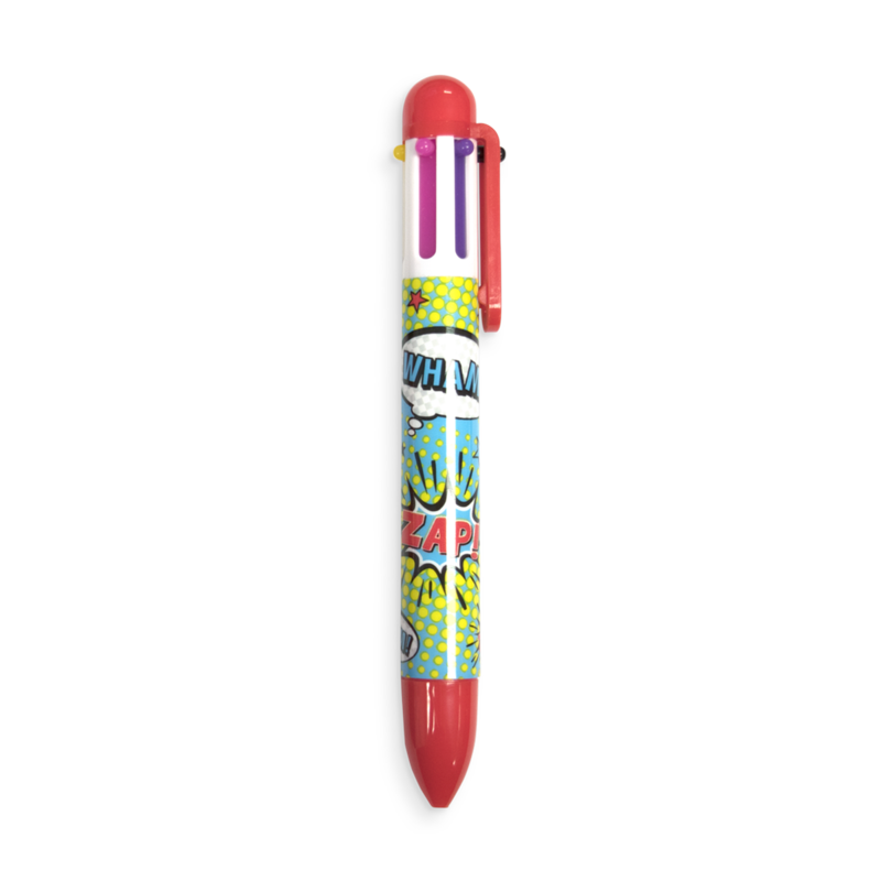 Comic Attack 6-click Multicolor Pens