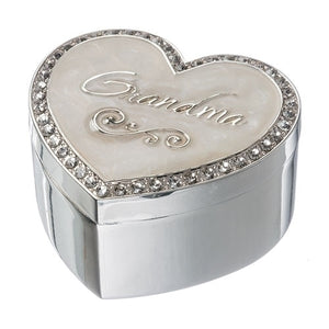 Grandma Keepsake Trinket Heart Box