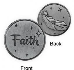 Guardian Angel Token - Faith with Feather