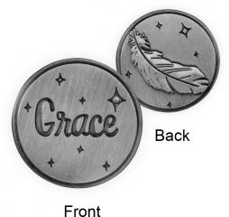 Guardian Angel Token - Grace with Feather