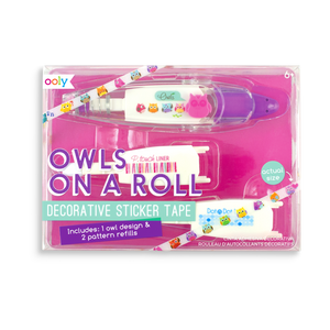 On a Roll Decorative Sticker Tape - Owls