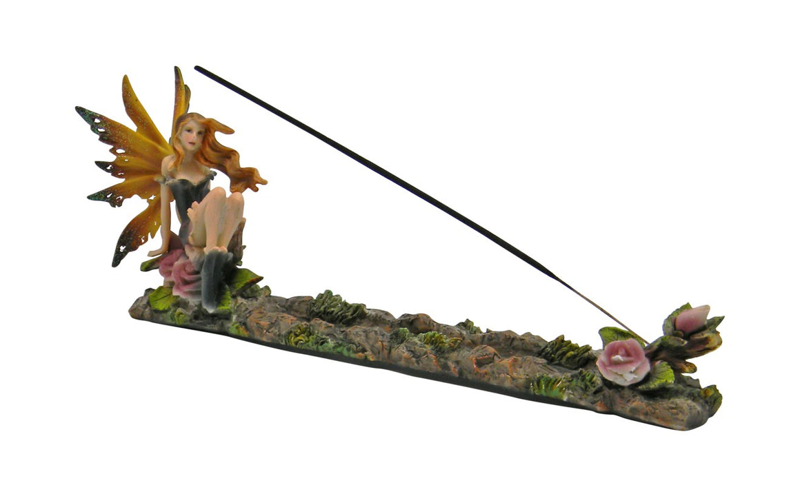Fairy with Lilacs Boat Incense Holder