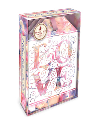 Love Watercolor Boxed Scented Sachets