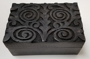 Spiral Tree of Life Design Antique Finish Wooden Box