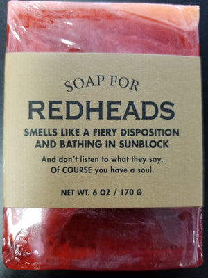 Soap for Redheads ~ Smells Like a Fiery Disposition and Bathing in Sunblock