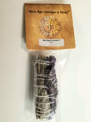 Blue Sage & Lavender Smudge Stick Set 3-4""