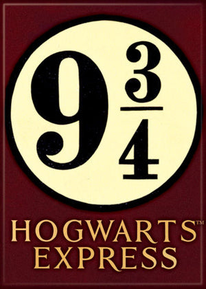 Hogwarts Express 9 3/4 Platform Harry Potter Magnet