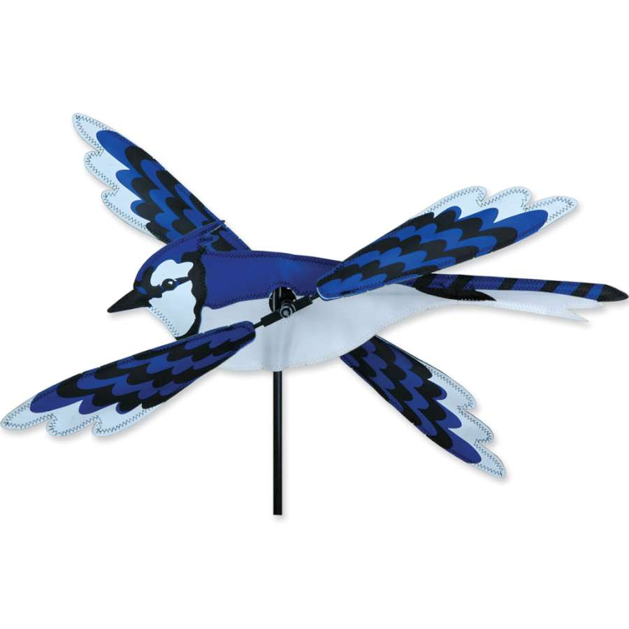 "Blue Jay Whirligig Wind Spinner (18"")"