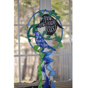"Birds Design ""Your Wings Already Exist ~ All You Have to Do Is Fly "" Garden Dreamcatcher"