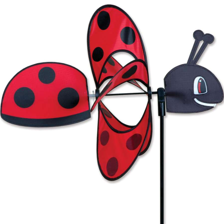 "Ladybug Whirly Wing Wind Spinner (18"")"
