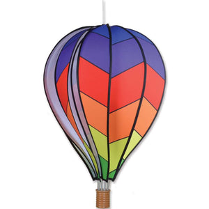 "Chevron Rainbow Hot Air Balloon (22"") Wind Spinner"