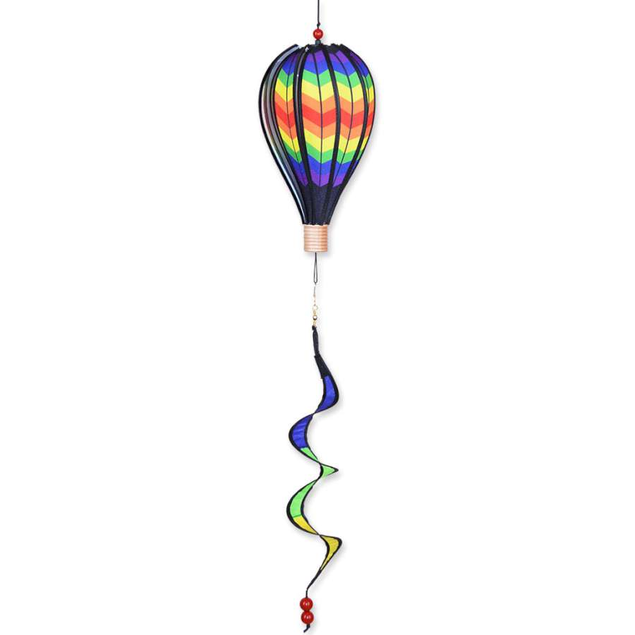 "Double Rainbow Hot Air Balloon (12"") with Twister Twirly Tail"