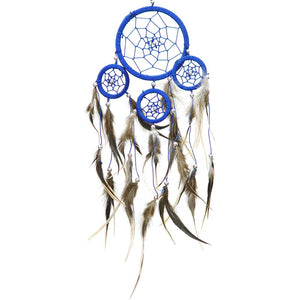 Brown Feathers Blue Dreamcatcher